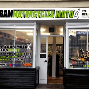 RAM Motorcycles Shop Signage