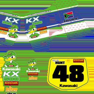 Cradley Kawasaki KX 500 Ryan Hunt