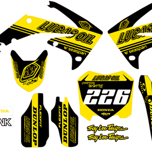 Honda CRF 2009 2012 Lucus Oil Limited Edition Kit Black and Yellow