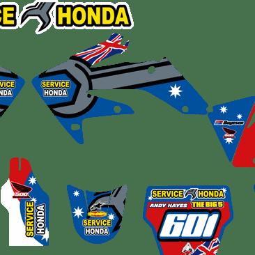 Service Honda 500 on crf250 04-05 Plastics