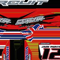 Honda CRF150 02 2012 Pro Circuit Union Jack Kit Jack Painter