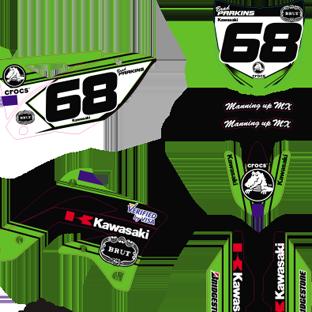 GDFK 00009 Kawasaki KXF 450 2013 2014