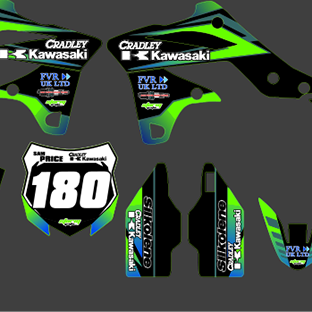 Kawasaki KXF 250 2013 2014 Cradley Kit Sam and Ryan