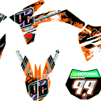 KTM EXC 350 2013 V Customs Kit Joe Hemming