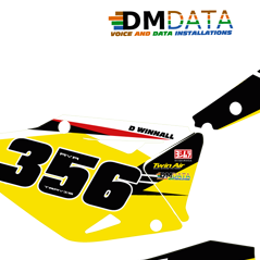 Suzuki RMZ 450-2013 James Stuart Yellow Backs
