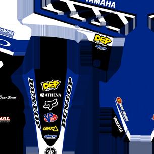 Yamaha YZFf 250 2010 2013 Retro Blue Kit