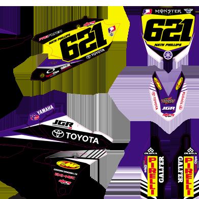 Yamaha YZF 250 450 2014 JGR Black Edition