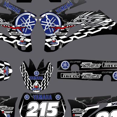 Yamaha YZF Lightning Graphics Kit 2008-2010