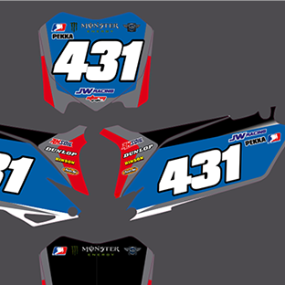 Honda CRF250 Geico Number Boards 2013