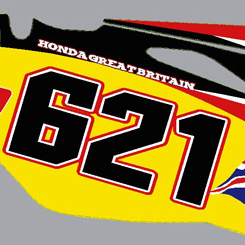 Honda CRF 450 Number Boards 09 2011 Nathan Phillips