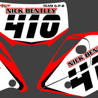 Nick Bentley CRX 450 Number Boards