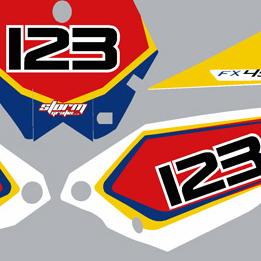 Husaberg FX 450 09-2011 Number Boards & Fender Graphic