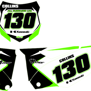 KXF450 2013 Number Boards Ac Collins