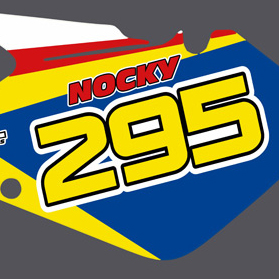 Suzuki RM 125 09 Number Boards
