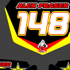 Suzuki RMZ 250 2010-2011 Number Boards Alex Fraser