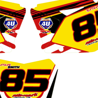 Suzuki RMZ 450 08 2011 Number Boards Nathan Smith
