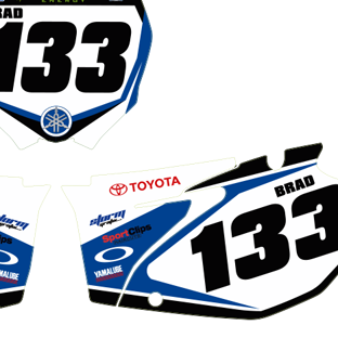 Yamaha YZF 250 06 09 JGR Number Boards 2013 Design
