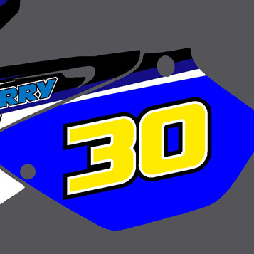 Yamaha YZ 125 06-09 Number Boards Mitch Perry