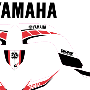 Yamaha Raptor Classic Kit Red and White