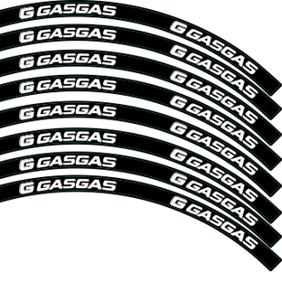 Gas Gas Logo in Black Red or White