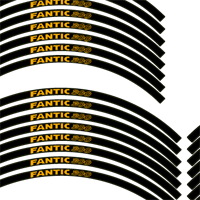 Fantic Black and Gold Rim Tapes