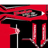 Beta 2012 2014 Custom Red and Black Factory Look Kit