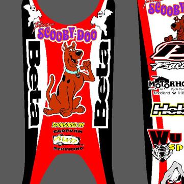 Beta 50cc Scooby Doo Graphics 2