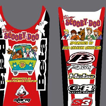 Beta 50cc Scooby Doo Graphics