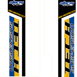 Sherco 2013 Fork Decals Tech Suspension